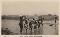 Safari Fording a River - Kenya Colony