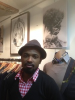 Mouss ADAME welcomes us in his concept store