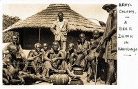Kenya Colony - A beer drink in Kavirondo -