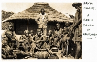 Kenya Colony - A beer drink in Kavirondo -