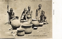 Kavirondo selling earthen pots and baskets