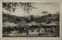 L interno di un villagio indigeno al Kenya