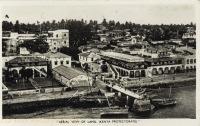 Aerial view of Lamu (Kenya Protectorate)