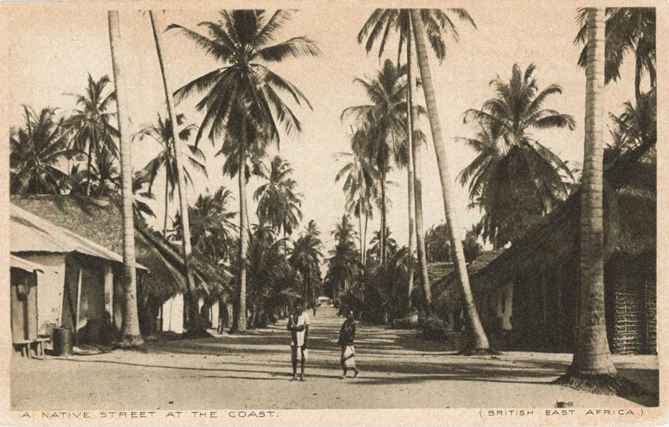 A native street at the Coast (British East Africa)