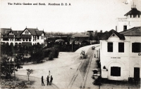 The Public Garden and Bank, Mombasa, B.E.A.