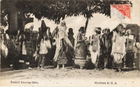 Swahilli Dancing Girls. Mombasa B.E.A.