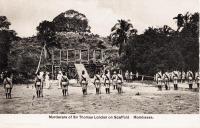 Murderers of Sir Thomas London on scaffold. Mombasa