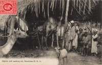 Native mill making oil, Mombasa B.E.A.