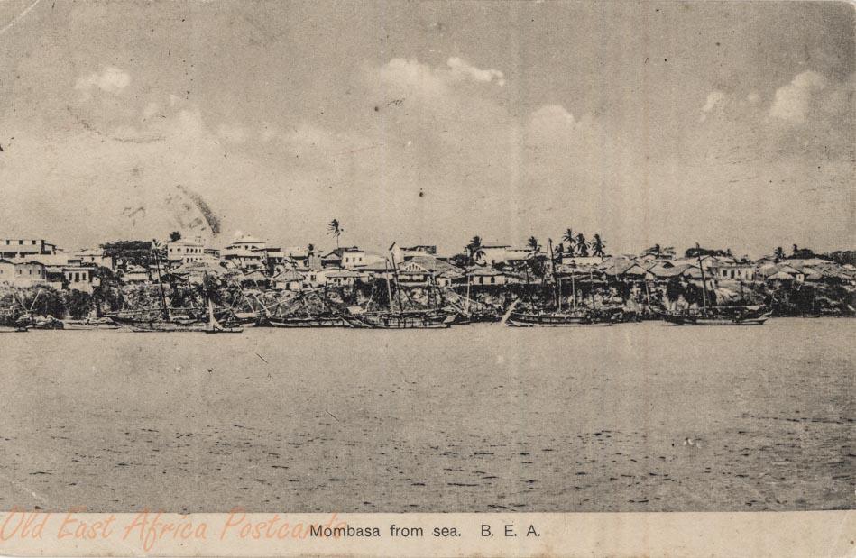 Mombasa from sea B.E.A