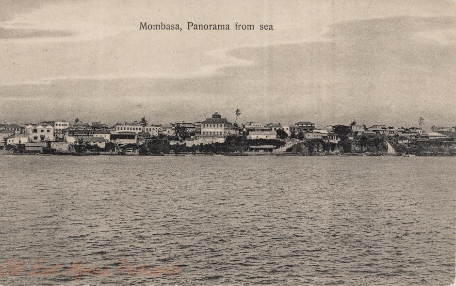 Mombasa, Panorama from Sea