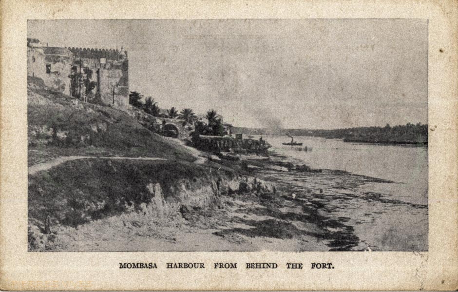 Mombasa harbour from behind the fort