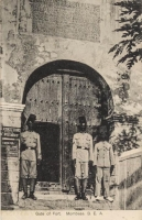 Gate of Fort. Mombasa. B.E.A.