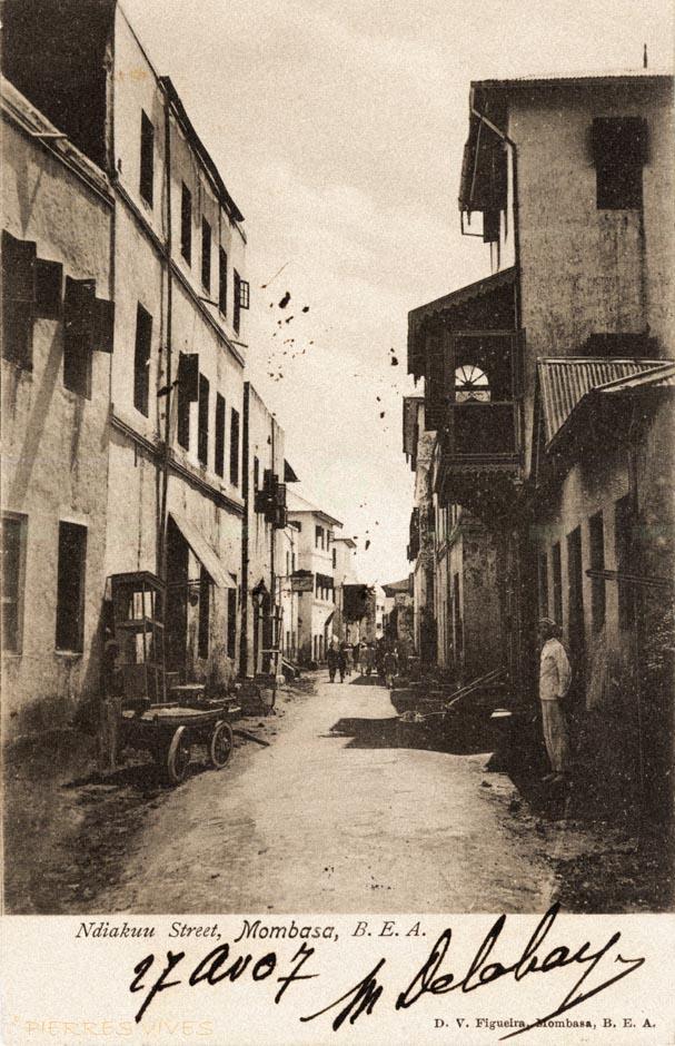 Ndiakuu Street, Mombasa. B.E.A.