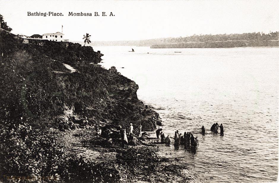 Bathing place, Mombasa, B.E.A.