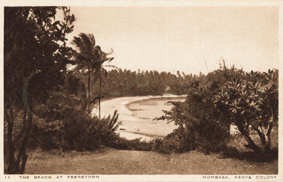 The beach at Frere Town - Mombasa - Kenya colony