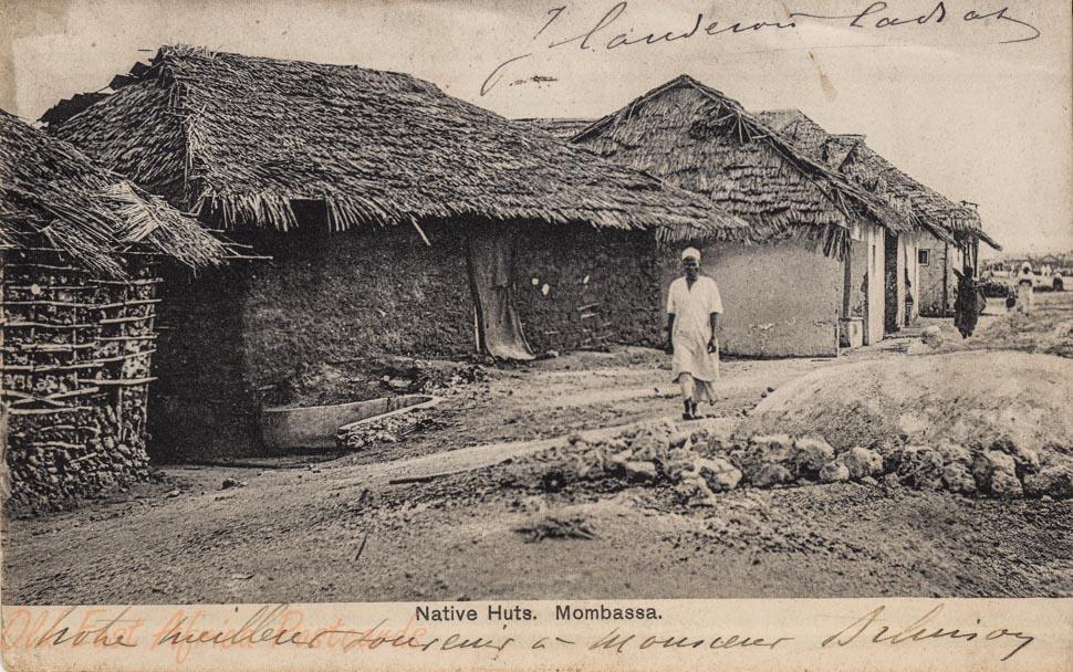 Native huts. Mombassa