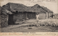 Native huts. Mombassa