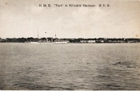"""H.M.S. """"Fort"""" in Kilindini Harbour, B.E.A."""