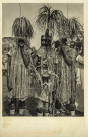 KENYA KOLONY - The Tiriki (Bantu) dress peculiarly during their circumcision festivities