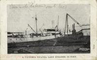 A Victoria Nyanza Lake Steamer in Port