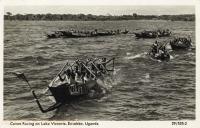 Canoe Racing on Lake Victoria, Entebbe, Uganda