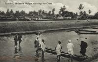 M Gambo Village, crossing the Creek