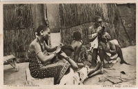 Native hairdressers (British East Africa)