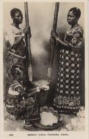Swahili girls pounding grain
