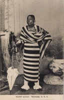 Swahili woman. Mombasa B.E.A.
