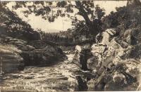 In Kenya district - a native bridge on the gorgeof the Sagana near Vambogo