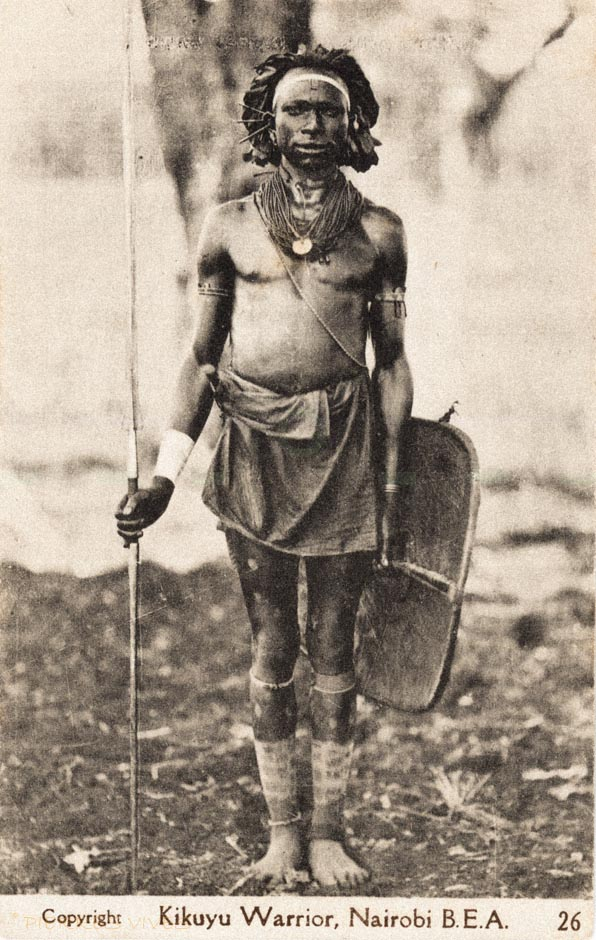 Kikuyu Warrior, Nairobi, B.E.A.