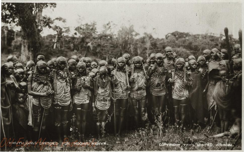Kikuyu Girls dressed for Ngoma KENYA