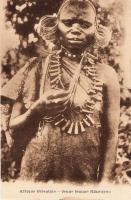 Afrique orientale - Jeune femme Kikuyu