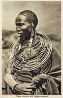 Massai woman with brass-ornaments