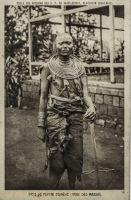 Type de femme indigène (tribu des Massaï)