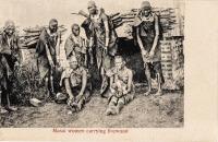 Masai women carrying wood