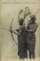 Jeunes guerriers s'exerçant à l'arc