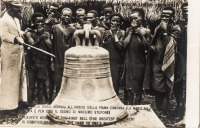 Akikuyu's wonder at the first bell (the greatest amazement is signified by carrying the hand to one's mouth)