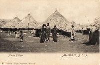 Native Village. Mombasa B.E.A.