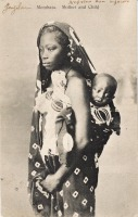 Mombasa. Mother and child