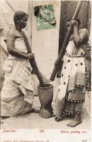 Natives grinding corn