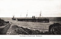 The wreck of French boat, Mombassa