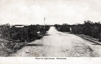 Road to Light-house. Mombasa.