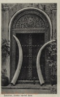 Zanzibar, Arabic carved door