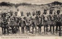 Waika women ready for work. B.E.A.