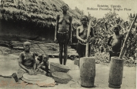 Entebbe, Uganda - Nubians Pounding Mogho Flour