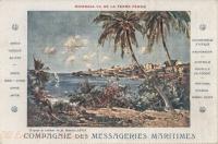 Mombasa vu de la terre ferme (d'après le tableau de Maurice Lévis)
