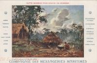 Hutte indigène - Pays Kikuyu (d'après le tableau de Maurice Lévis)