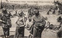 Petit marché de village - Pays des Massaï (Afrique Centrale)