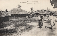 Huts and typical Natives